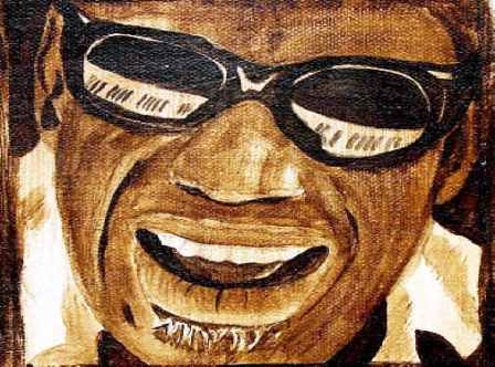 Ray Charles in a painting by Michael Arnold