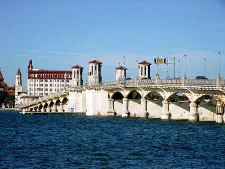 bridge of lions in St Augustine Florida