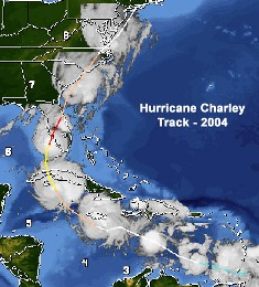 hurricane Charley hits florida in 2004