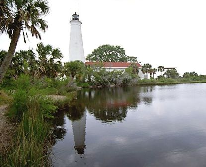 St Mark lighthouse at the St Marks Nature Preserve in Wakulla Florida