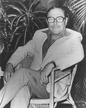 Tennessee Williams at his Key West Florida home